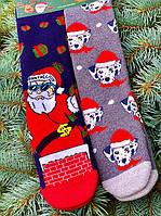 Новорічні шкарпетки жіночі високі з принтом М3 (2 пари в упаковці, розмір 36-45)