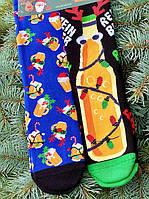 Новорічні шкарпетки теплі високі жіночі з малюнком М6 (розмір 36-45)