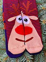 Новорічні шкарпетки теплі з оленями для всієї родини М10 (2 пари в упаковці, розмір 36-45)