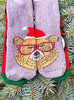 Новорічні шкарпетки жіночі високі з принтом теплі в подарунок М11 (2 пари в упаковці, розмір 36-45)
