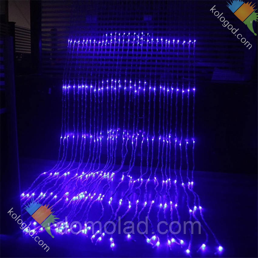 Гірлянда Водоспад 480 LED 3 х 2 м Кольори в Асортименті