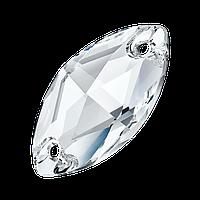 Лодочки пришивные хрустальные Preciosa (Чехия) 18x9 мм Crystal