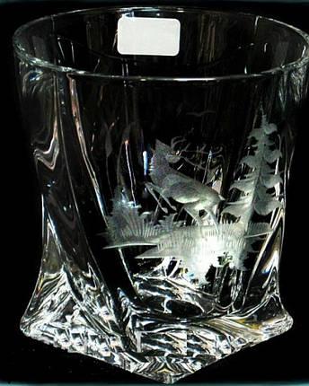 Набор стаканов для виски (6 шт/300 мл.) BOHEMIA Quadro Охота  5580, фото 2