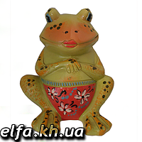 Керамическая копилка Лягушонок 21 см.