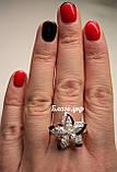Кольцо серебряное 925 пробы с накладками золота 375 пробы., фото 3