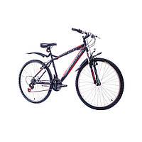 "Велосипед 26"" Discovery TREK  14G  Vbr  рама-18"" St  черно-серо-красный  2018"
