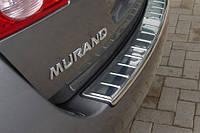 Хромовая накладка на задний бампер Nissan Murano 2009-14 новая оригинальная