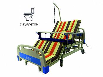Медичне ліжко з туалетом. Функціональне ліжко. Ліжко для реабілітації. Для інваліда.