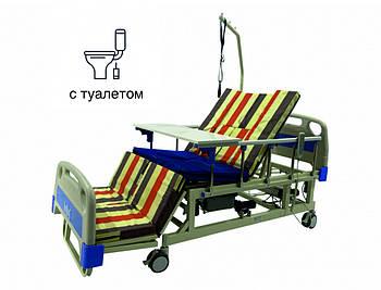 Ліжко з туалетом і функцією бічного перевороту для важкохворих. Медичне Електро Ліжко.