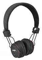 Беспроводные Bluetooth стерео наушники NIA X2 с МР3 и FM черные (4068) ON
