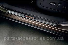 Накладки на пороги с подсветкой Nissan Murano 2009-2014 новые оригинальные