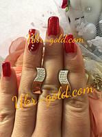 Серебряный гарнитур со вставками золота