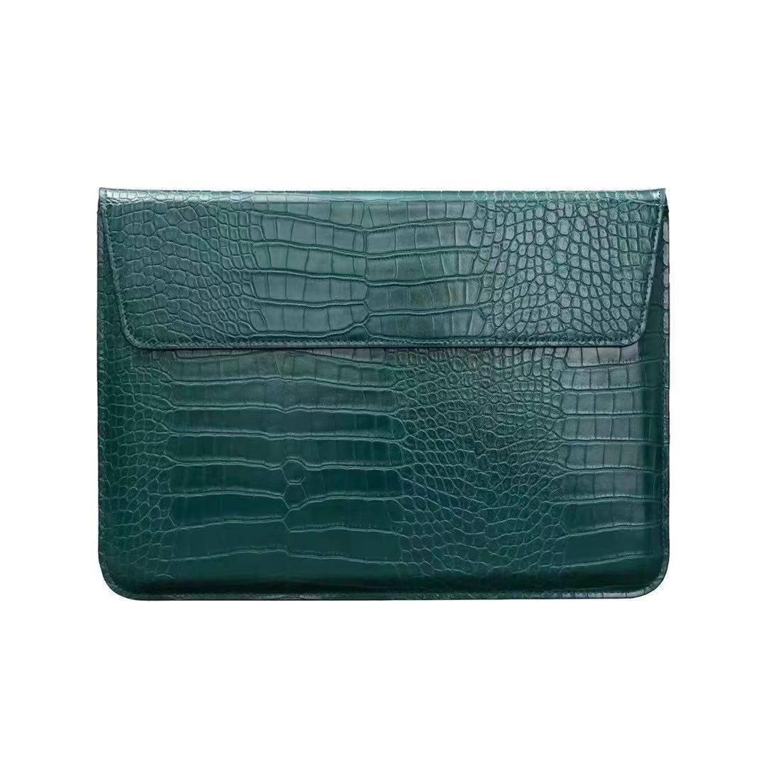 "Чохол-конверт для MacBook 15.4"" /16"" Fashion Case Крокодил Leather Dark green"
