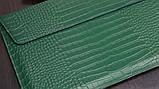 "Чохол-конверт для MacBook 15.4"" /16"" Fashion Case Крокодил Leather Dark green, фото 4"