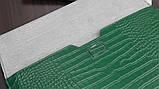 "Чохол-конверт для MacBook 15.4"" /16"" Fashion Case Крокодил Leather Dark green, фото 6"