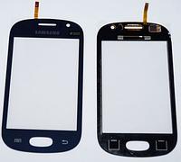 Оригинальный тачскрин сенсор (сенсорное стекло) для Samsung Galaxy Fame S6810 S6812 (темно-синий, самоклейка)