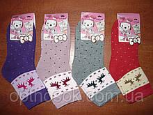 """Дитячі махрові шкарпетки """"Корона"""". н. L (31-36). Дівчинка"""