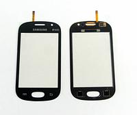 Оригинальный тачскрин / сенсор (сенсорное стекло) для Samsung Galaxy Fame S6810 | S6812 (черный, самоклейка)