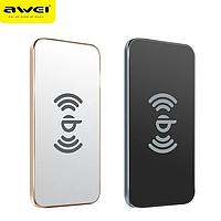 Беспроводное зарядное устройство AWEI W1 + WIRELESS CHARGE, супер тонкое портативное зарядное устройство ON