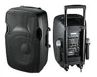 Активная колонка на акумуляторе с двумя радиомикрофонами B12RECHARG+MP3+Bluetooth