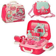 Игровой набор с аксессуарами, Бьюти-кейс для девочки Beauty 008-933A, фен, зеркало, расческа и аксессуары