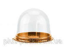 Упаковка для тістечка ПР-Т 85Д золоте , 390шт/уп
