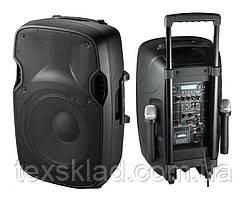Комбо-акустика с двумя радиомикрофонами JB15R+MP3