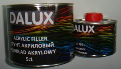 Автомобильный грунт DALUX 5+1 2К акриловый серый 0,4л + отвердитель 0,08л