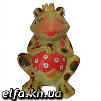 Керамическая копилка Лягушка царевна 22 см