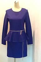 Платье Elisabetta Franchi с баской длинный рукав