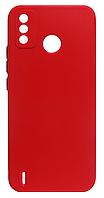 Силікон Tecno Spark6 Go red Square TPU