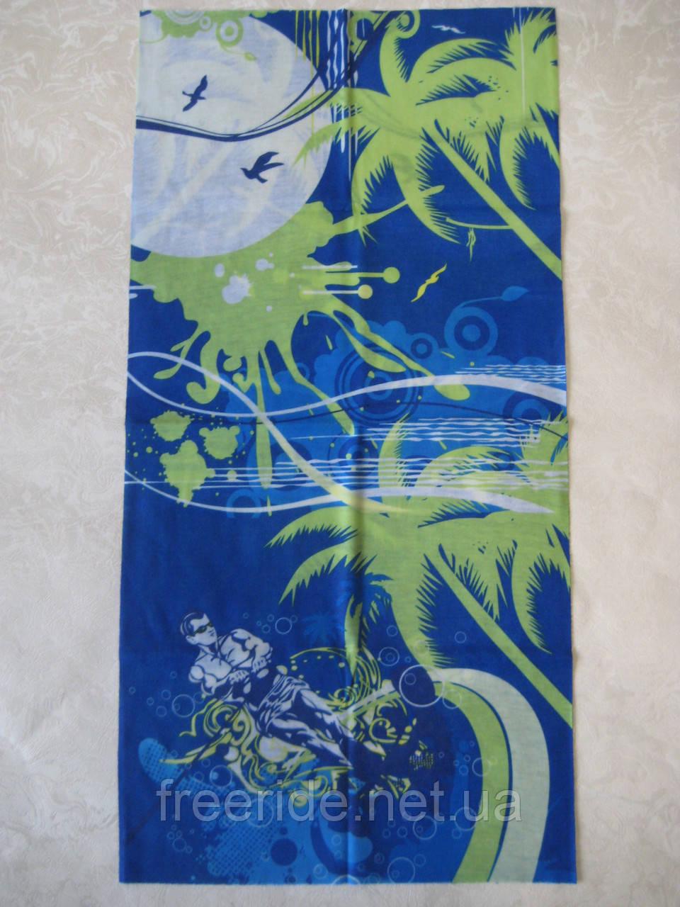 Летний бафф, buff, бесшовный шарф, повязка (#137)