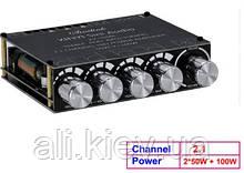 Усилитель звука S100L 2,1, 2*50 Вт + 100 Вт, Bluetooth 5,0, аудио стерео + сабвуфер, эквалайзер