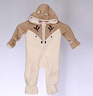 Теплый махровый комбинезон 62р Человечек для новорожденных