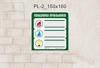 Табличка Показатели счетчика_pL-2