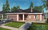 MS-012. Современный одноэтажный дом с гаражом