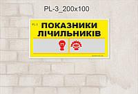 Табличка Показатели счетчика_pL-3