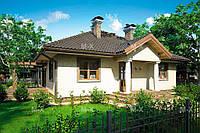 МS-013. Компактный одноэтажный дом в деревенском стиле, фото 1