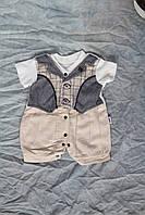 Літній костюм для малюка хлопчика шорти + сорочка бодік 3 міс