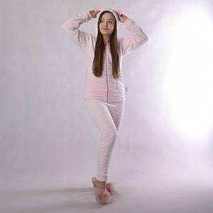 """Підлітковий домашній костюм """"Шиншила-рожевий"""" р. 36-42"""