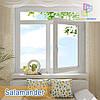 """Пластиковые окна с фрамугой Salamander 2D eco 1400x1700 """"Окна Маркет"""""""