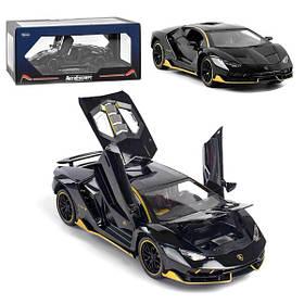 Машинка Lamborghini коллекционная моделька игрушка металлическая открываются двери 1:24 Черный (59244)