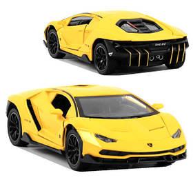 Lamborghini игрушка машинка коллекционная моделька металлическая открываются двери 1:24 Желтый (59245)