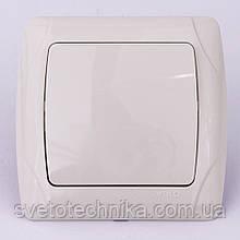Выключатель одноклавишный VI-KO Carmen скрытой установки (кремовый)