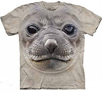 Футболка 3D The Mountain Big Face Seal T-Shirt, морда тюленя