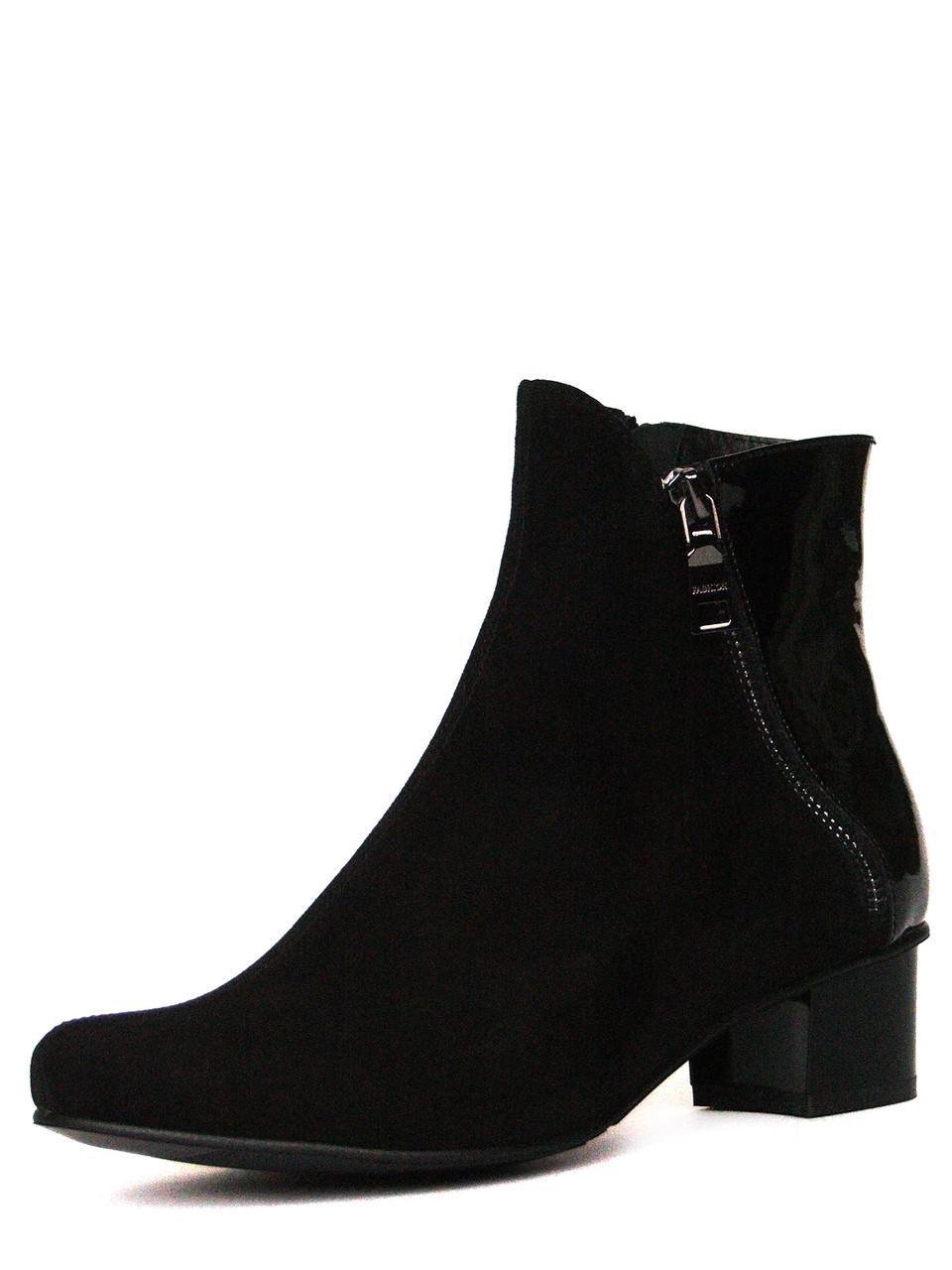 e0be4ac6f Черные замшевые ботинки с лаком и косой молнией, цена 1 650 грн., купить в  Запорожье — Prom.ua (ID#230125427)