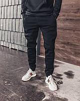 Теплые  спортивные штаны мужские Черные