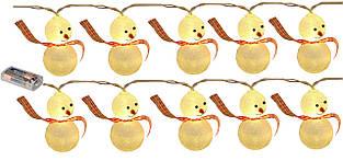 """Новогодняя гирлянда """"Снеговики"""" 10 LED, Длина 2M"""