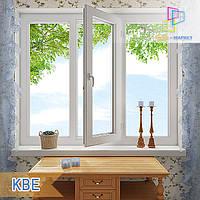 """Пластиковое трехстворчатое окно КВЕ 58 Eco. 1800x1400 """"Окна Маркет"""", фото 1"""