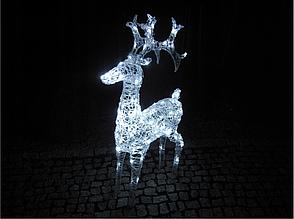 Новорічна акрилова статуя олень Великий RENIFER, що Світяться новорічні олені 100 LED